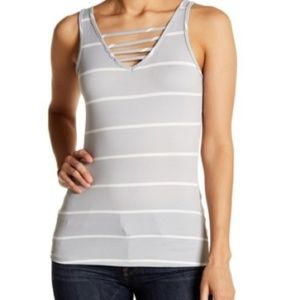 POOF!   STRIPED TANK TOP